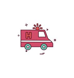 ambulance car emergency medical icon desige vector image