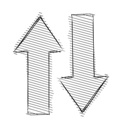 Arrows up and down vector image vector image