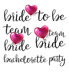 bachelorette party text bachelorette vector image