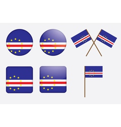 badges with flag of Cape Verde vector image