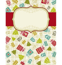 beige background with christmas elements vector image