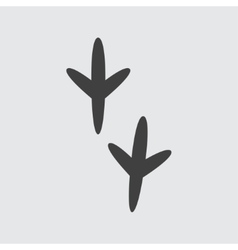 bird footprint icon vector image