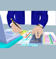 Business audit male in suit vector