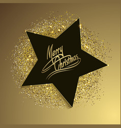 Christmas background with star vector
