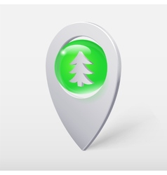 Christmas Tree Crystal Ball Pointer or Pin vector