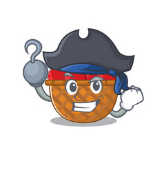 Cool tomato basket in one hand pirate cartoon vector