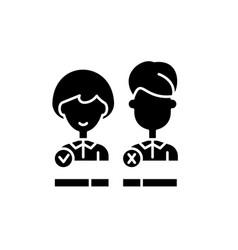 customer status black icon sign on vector image