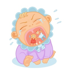 cute baby crying vector image