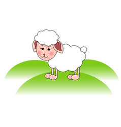 Cute sheep lamb head vector