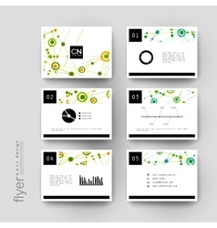 DNA molecule brochure template Flyer vector image