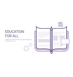 education for all learing online business concept vector image