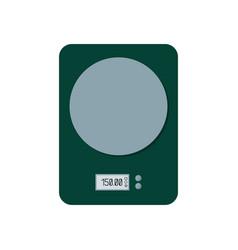 Electric scales dark green weigher vector