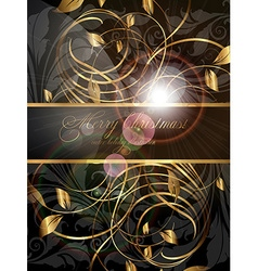Elegant Christmas Banner with Text Space vector image