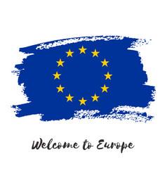 European union watercolor flag icon vector