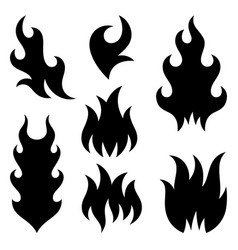 fire flames 003 vector image