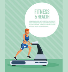 fitness and health infographic vector image