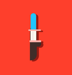 Flat icon design collection military knife in vector