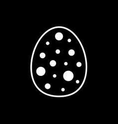 flat line easter egg icon vector image