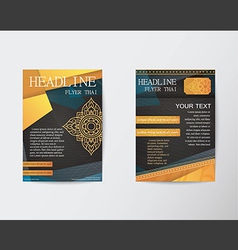 Flyer thai design template Brochure in A4 size vector image