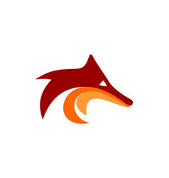 fox head logo icon concept brand design vector image