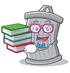 geek trash character cartoon style vector image