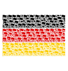 Germany flag collage of waving flag items vector