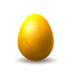 gold chocolate egg vector image
