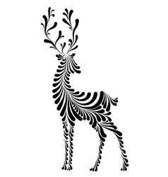 Graceful fairy deer vector