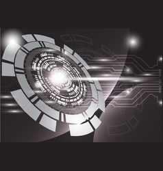 Gray technology background abstract digital tech vector