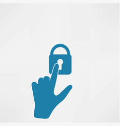 hands with key icon vector image