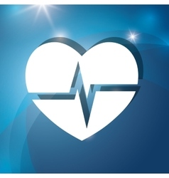 Heart medical cardiology vector image