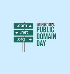 International public domain day celebration vector