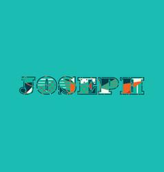 Joseph concept word art vector
