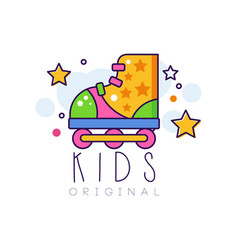 kids logo original creative concept template vector image