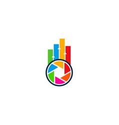 lens statistic logo icon design vector image