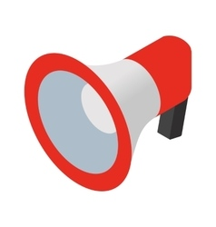 Loudspeaker isometric icon vector