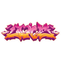 Love in graffiti style isolated on white vector