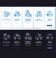 Manage adhd in kids onboarding mobile app page vector
