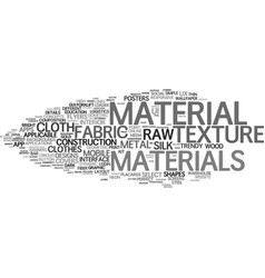 Material word cloud concept vector