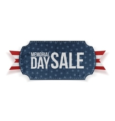 Memorial Day Sale textile Label and Ribbon vector