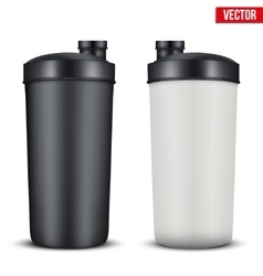 Mockup Plastic Sport Nutrition Drink Bottle vector image