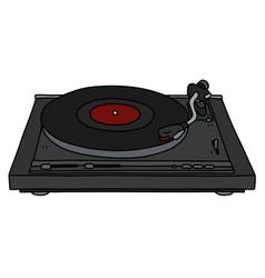 Modern black gramophone vector