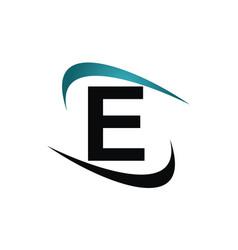 Modern icon solution letter e vector