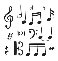 music notes for decoration design vector image