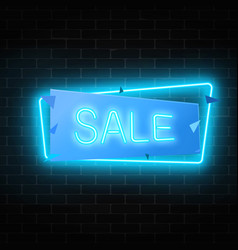 neon christmas or other holiday sale sign in vector image