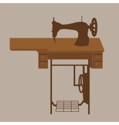 Old sewing machine vintage antique tailor fashion vector