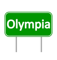 Olympia green road sign vector image