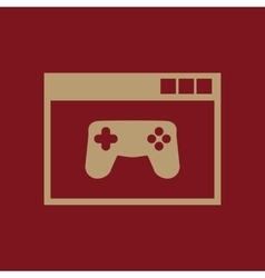 Online game icon design gaming game vector image