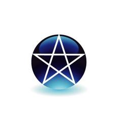 Pentagram- Religious symbol of satanism vector image