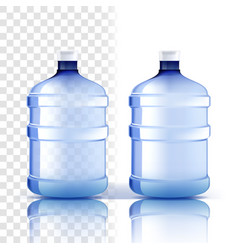 plastic bottle full object bluer classic vector image